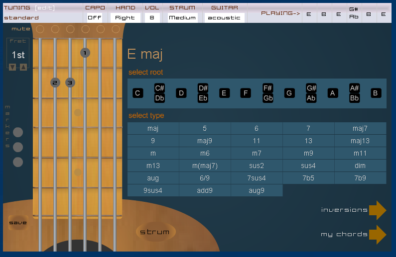 Virtual Guitar & Chord Book-Interactive Chords, Scale & Tuner ...