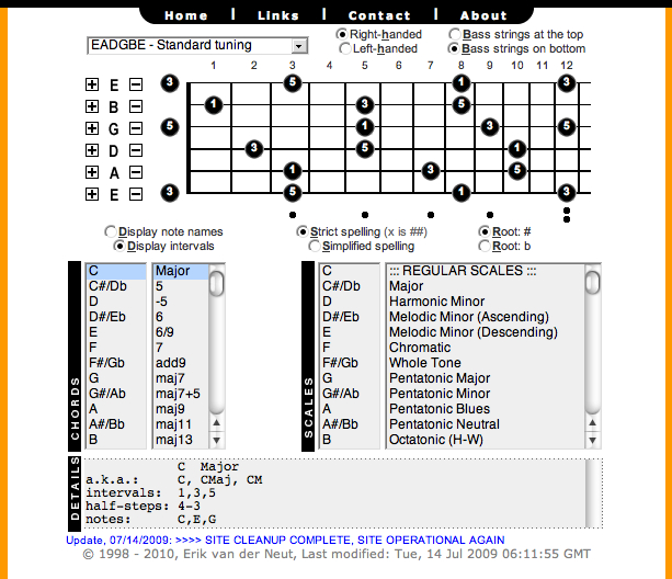 chord house ::: chords and scales for guitar and piano | Binary Heap