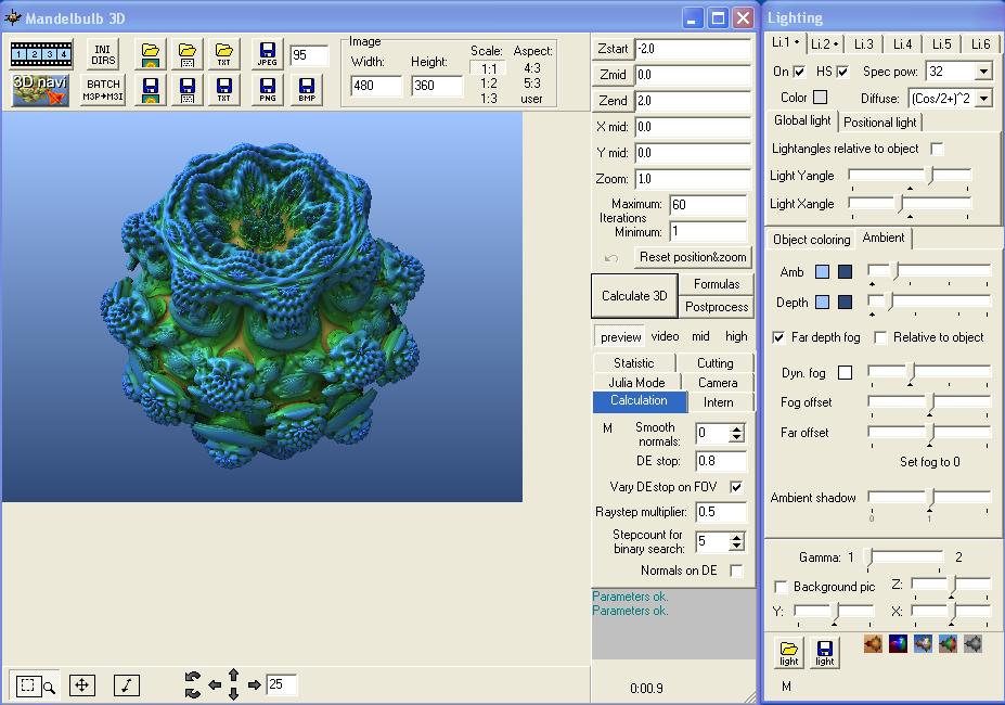 for Windows and Mac 3D Fractal Rendering Software Mandelbulber